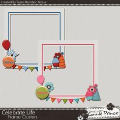Scrapbooking TammyTags -- TT - Designer - Connie Prince, TT - Item - Frame, TT - Style - Cluster, TT - Theme - Birthday