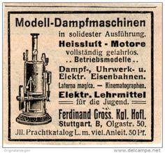Original-Werbung/Inserat/ Anzeige 1909 - MODELL-DAMPFMASCHINEN FERDINAND GROSS - ca. 45 X 50 mm