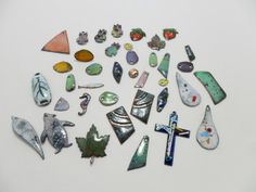 Vintage Enamel on Copper 38 Piece LOT Supply Jewelry by KathiJanes, $58.00