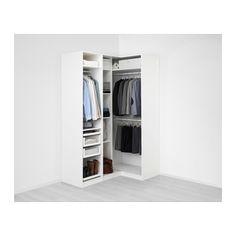 IKEA - PAX white Corner wardrobe Frame colour: white Forsand - April 13 2019 at Ikea Pax Corner Wardrobe, Corner Closet, Front Closet, Pax Wardrobe, Closet Doors, Pax Closet, Ikea Closet, Armoire Entree, Armoire D'angle