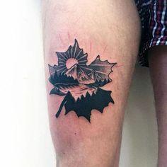 80 Maple Leaf Tattoo Designs For Men - Canadian And Japanese Ink Hand Tattoos, Large Tattoos, Arm Tattoo, Sleeve Tattoos, Small Male Tattoos, Bike Tattoos, Tattoo Moon, Tatoos, Blackwork