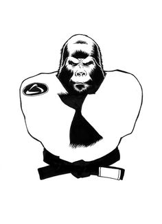BJJ Gorilla by LeroySoesman on DeviantArt