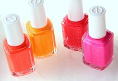 essie poppy razzi collection. perfect for summer.