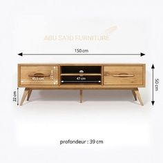 Solid wood TV stand feet compass vintage style dimensions Source by ibonelordui Tv Furniture, Building Furniture, Furniture Design, Latest Dining Table, Dining Table Design, Tv Wall Design, Tv Unit Design, Interior Design Living Room, Living Room Designs