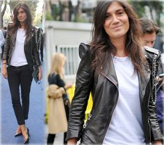 leather and white