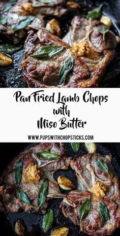 Pan Fried Lamb Chops with Miso Butter