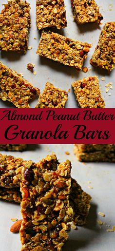 Almond peanut butter granola bars simple. tasty and everyone will love them! |granola bars|