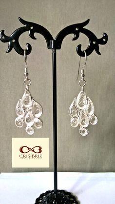 Quilled earrings, fine silver Metal Clay, Quilling, Jewelry Art, Jewels, Earrings, Silver, Handmade, Bedspreads, Ear Rings