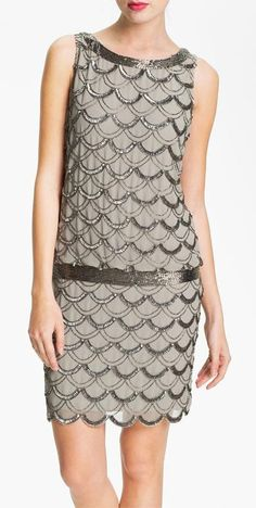 pretty scallop pattern, like the drop waist band -- nordstrom