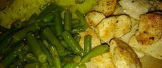 Kuřecí medailonky s fazolkami a bramborem Green Beans, Vegetables, Food, Essen, Vegetable Recipes, Meals, Yemek, Veggies, Eten