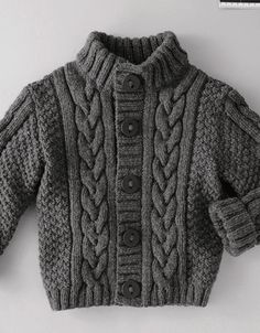 35 Ideas for knitting sweaters for boys baby vest Baby Knitting Patterns, Baby Boy Knitting, Knitting For Kids, Baby Patterns, Free Knitting, Knitting Designs, Baby Knits, Coat Patterns, Toddler Cardigan