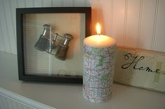 PB Inspired Map Candle | Copycat Crafts