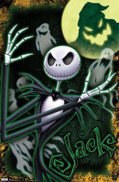 Nightmare Before Christmas Glow In Dark Poster