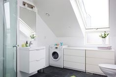 A very smart and clever use of space in a 45 square meter apartment - bathroom