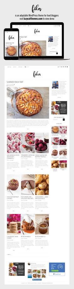 Fika is an adaptable WordPress theme for food bloggers with over ONE HOUR of tutorials included free.