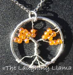 Shop for on Etsy, the place to express your creativity through the buying and selling of handmade and vintage goods. Glass Jewelry, Wire Jewelry, Pendant Jewelry, Glass Beads, Unique Jewelry, Jewelry Ideas, Jewlery, Tree Of Life Jewelry, Tree Of Life Pendant