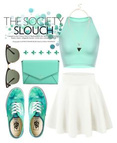"""""""Mint Green"""" by larissa-k ❤ liked on Polyvore featuring Vans, Ray-Ban and Kate Spade"""