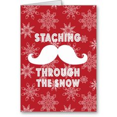 Staching through the snow - Funny customizable Christmas card