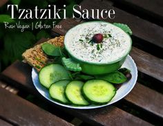 Are you a Greek Food lover & a Vegan? This is the recipe for you! Try this Raw Vegan Tzatziki Sauce. Full of flavour & easy to make. Yum!