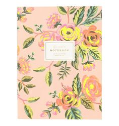 Jardin de Paris Single Notebook with Gold Foil and Neon Accents
