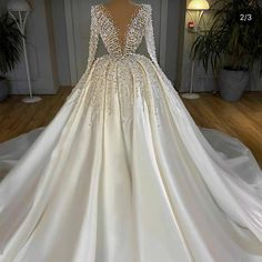 luxury white prom dress ball gown peals beaded