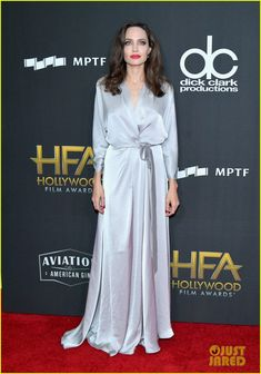 Angelina Jolie Stuns in Silver at the Hollywood Film Awards 2017!