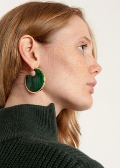 Rachel Comey Nina Malachite Earrings – The Frankie Shop