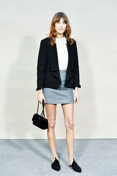 """"""" Alexa Chung attends the Chanel show as part of the Paris Fashion Week Womenswear Spring/Summer 2015 on September 30, 2014 in Paris, France. """""""