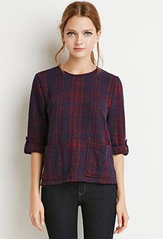 Boxy Plaid Top | Forever 21 Canada