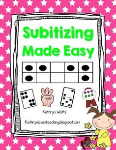 Subitizing is the ability to quickly identify the number of objects in a set without counting.  There are two types of Subitizing. Perceptual Subitizing is the instant visual recognition of a pattern such as numbers in a ten frame. Conceptual Subitizing involves recognizing smaller groups and adding them together, for example four dots plus two dots equals six dots.