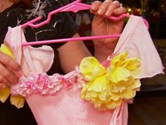 Learn how to transform a plain dress into a fairy costume come true.