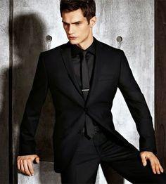 All Black Suit Prom, Black Suit Wedding, Black Suit Men, Wedding Suits, Formal Men Outfit, Outfits Casual, Mode Outfits, Mens Fashion Suits, Mens Suits