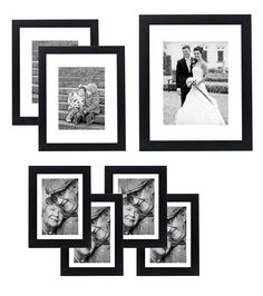 7 Piece Gallery Wall Set - Includes: 11x14 Inch with 8x10 inch matte opening, Two 8x10 inch with 5x7 matte openings, Four 5x7 inch with 4x6 inch matte opening *** You can get additional details at the image link. (This is an affiliate link and I receive a commission for the sales)
