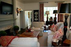 Cozy and elegant family room