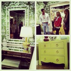 Talking design with @Bungalow5 at #hpmkt #laylagrayce #bungalow5