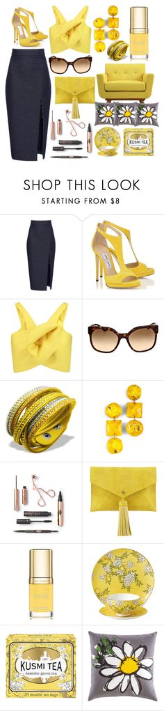 """""""The bright side 🐝"""" by pulseofthematter ❤ liked on Polyvore featuring Cushnie Et Ochs, Delpozo, Prada, Neiman Marcus, Dolce&Gabbana, Wedgwood, Kusmi Tea and Kate Spade"""