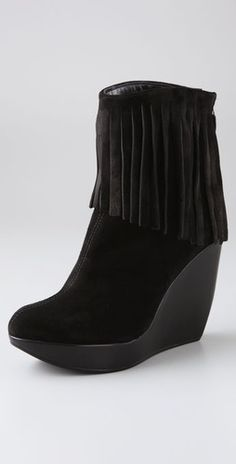 Tapeet Fringe Wedge Suede Booties - One of my all-time favorite pairs of shoes.  Comfy too!