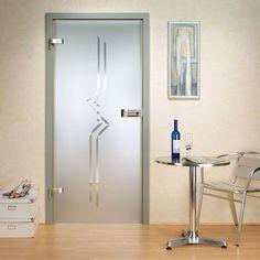 Adesivo decorativo jateado para portas de vidro - 200x060 cm