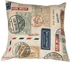 Pillow-Decor-Vintage-Postage-Stamp-Color-18x18-Throw-Pillow