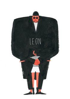 Leon: The Professional Leon Matilda, The Professional Movie, Leon The Professional Mathilda, Character Illustration, Illustration Art, Woman Drawing, Cultura Pop, Illustrations And Posters, Film Posters