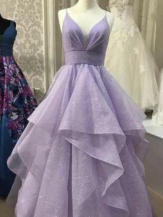 Stunning Prom Dresses, Pretty Prom Dresses, Cheap Prom Dresses, Purple Prom Dresses, Lavender Prom Dresses, Light Purple Prom Dress, Dress Prom, Puffy Prom Dresses, Best Prom Dresses