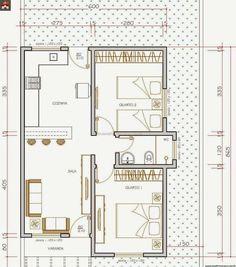 Pinterest: @claudiagabg   Casa en residencia 2 cuartos / planta 2 Bedroom House Plans, Small House Plans, House Floor Plans, Small Apartment Design, Small Apartments, Plan Hotel, Indian House Plans, Apartment Floor Plans, Container House Design