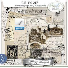 CU vol 217 Brush and Postcards by Florju Designs