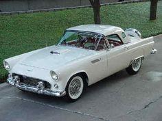 1956 White Ford Thunderbird.