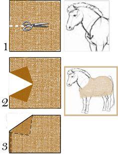 Faire une couverture pour son cheval soi-même / Astuces cheval / xTweenty - Blog de Creations-Animals - Skyrock.com