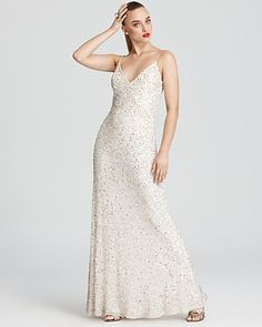 Aidan Mattox Gown - Sequin Gown | Bloomingdale's