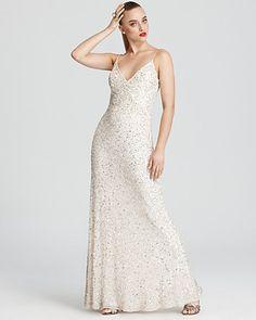 Aidan Mattox Gown - Sequin Gown   Bloomingdale's
