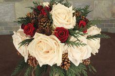 PERFECTION!!!! Winter Wedding Bridal Bouquet Rustic Wedding by SmokyMtnWoodcrafts, $195.00