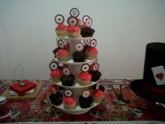 Cupcakes de dulce de leche y de Mocka para el cumpleños de Juan Camilo