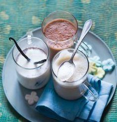 Flavoured milk - chocolate, vanilla, rosewater, orange flower blossom etc.